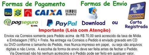 Este site aceita pagamentos com Visa, Mastercard, Dinners, American Express, Hypercard, Aura, Bradesco,Itau, Banco do Brasil, Caixa, Saldo no PagSeguro e Boleto pagável em toda a rede bancária.